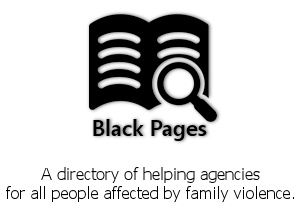 Black Pages Logo - www.directory.blackribbon.org.nz
